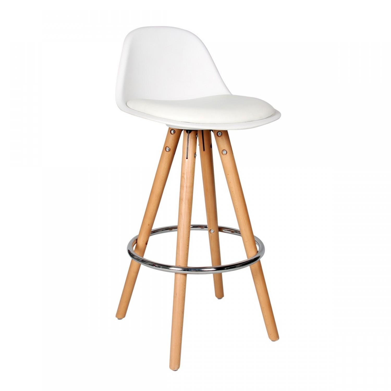 tabouret de bar scandinave blanc koya design. Black Bedroom Furniture Sets. Home Design Ideas