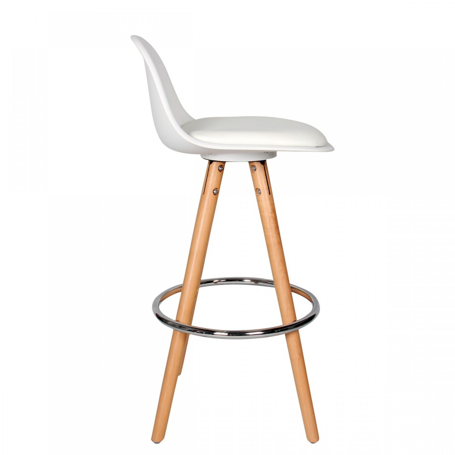 tabouret de bar scandinave blanc koya design. Black Bedroom Furniture Sets. Home Design Ideas