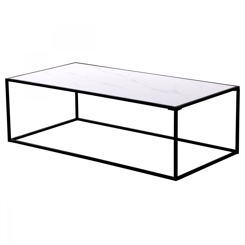 Table basse Kamran rectangulaire en céramique effet marbre