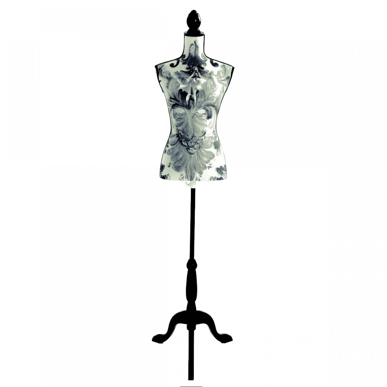 Mannequin couture Fleuri noir