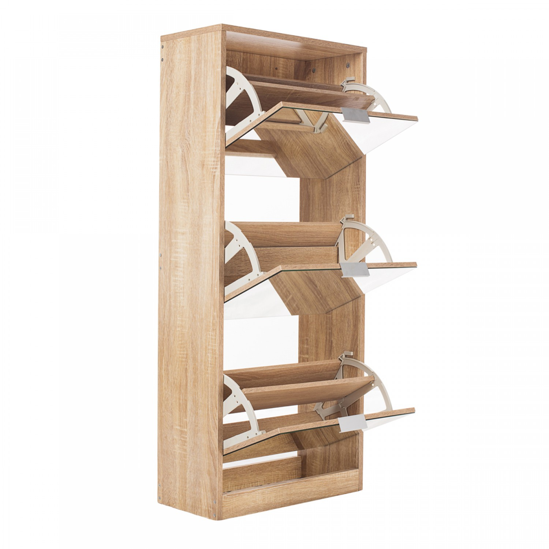 meuble chaussures 3 tiroirs avec miroir scandinave koya design. Black Bedroom Furniture Sets. Home Design Ideas