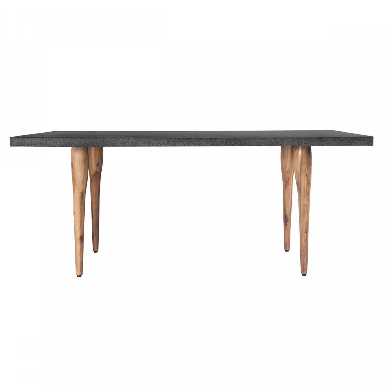 table rectangulaire 160 cm r sine et bois koya design. Black Bedroom Furniture Sets. Home Design Ideas