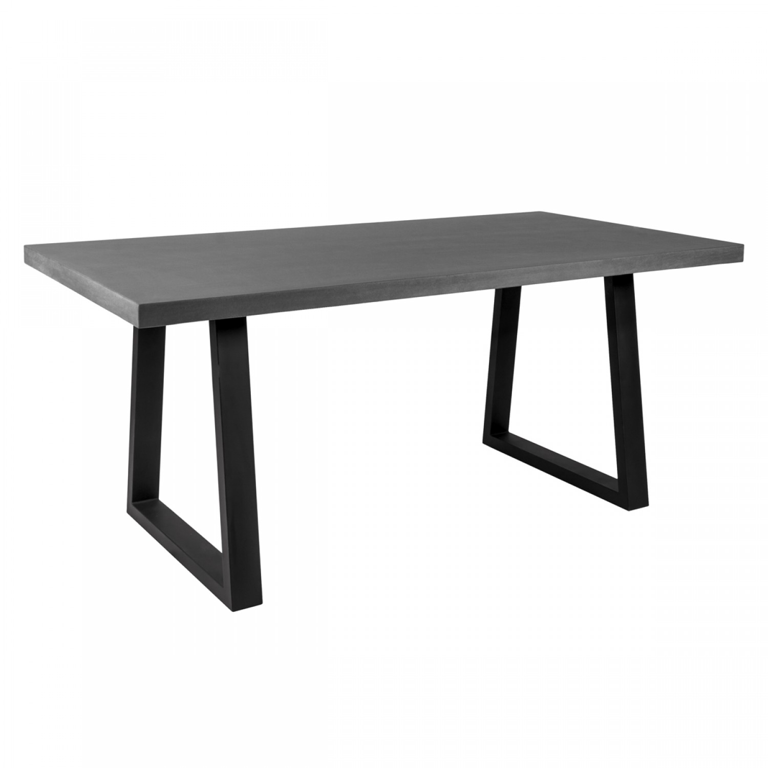 table rectangulaire r sine et m tal 180 cm koya design. Black Bedroom Furniture Sets. Home Design Ideas