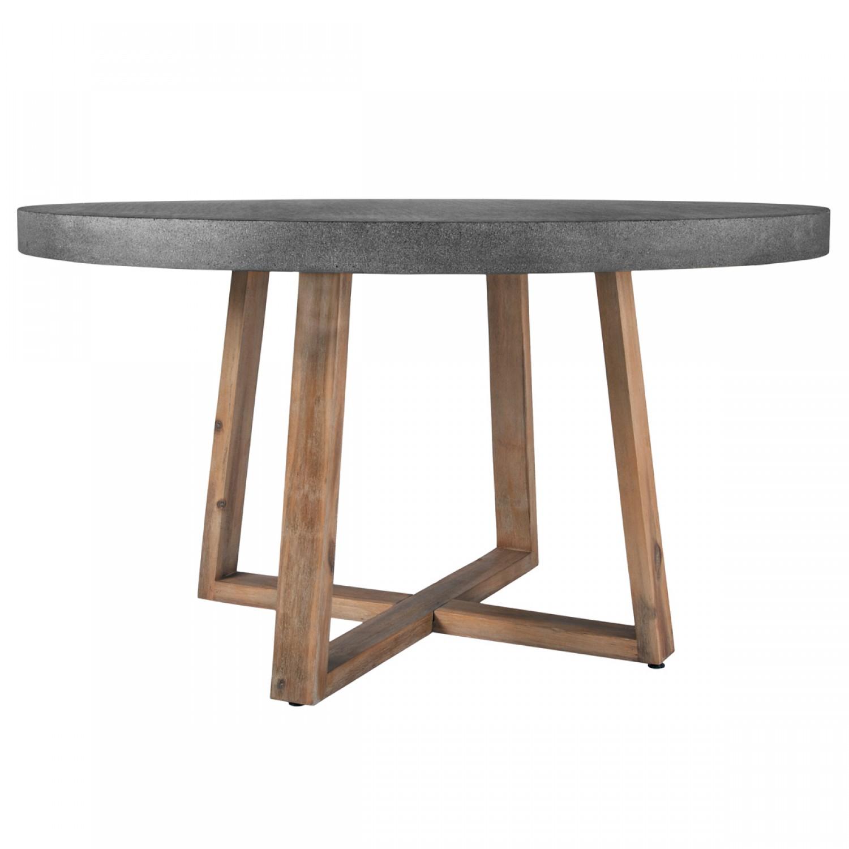 table ronde r sine et bois 140 cm koya design. Black Bedroom Furniture Sets. Home Design Ideas