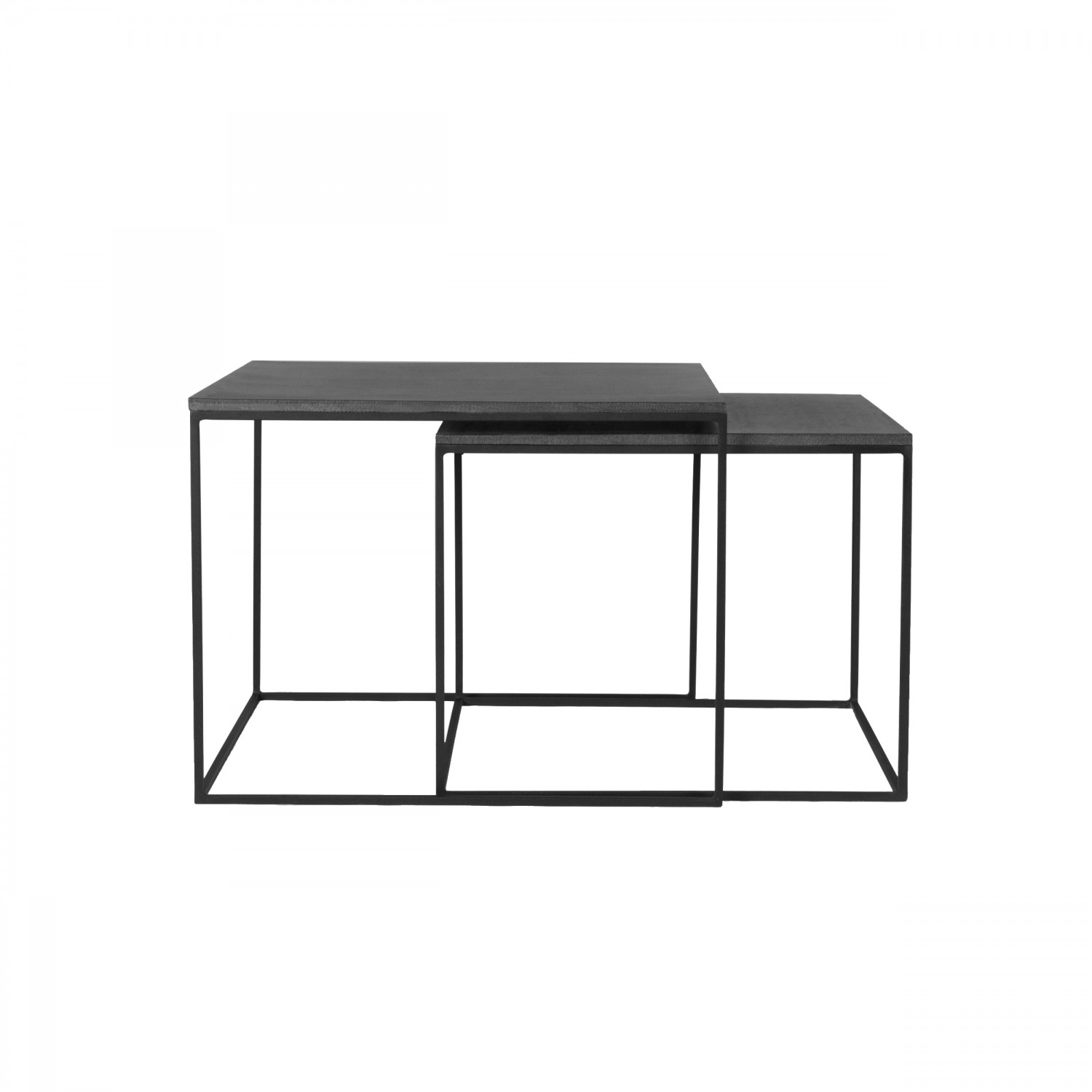 Table Basse Gigogne Carree Ordesa Lavastone Lot De 2 Koya Design
