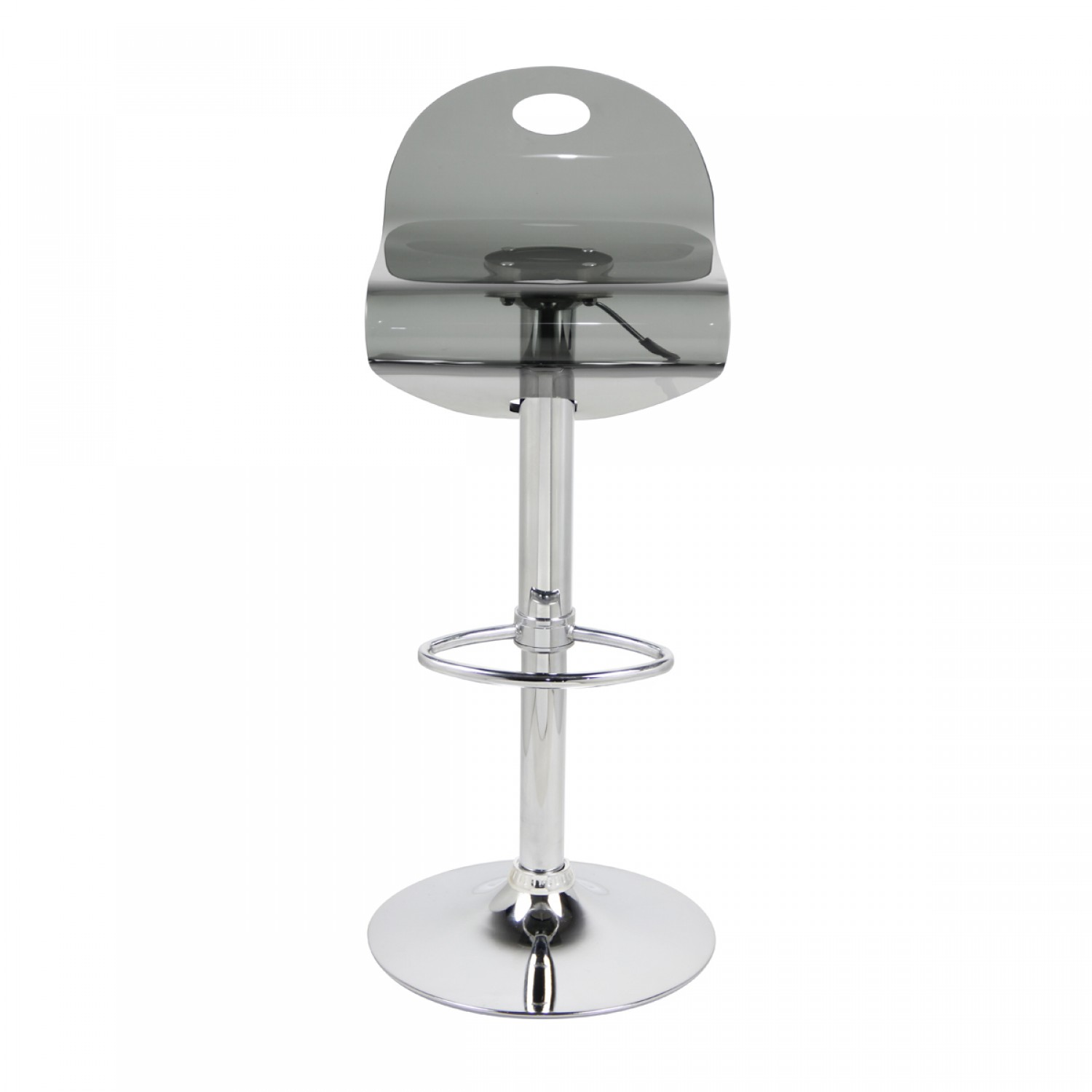Tabouret de bar Curve fumé (lot de 2)