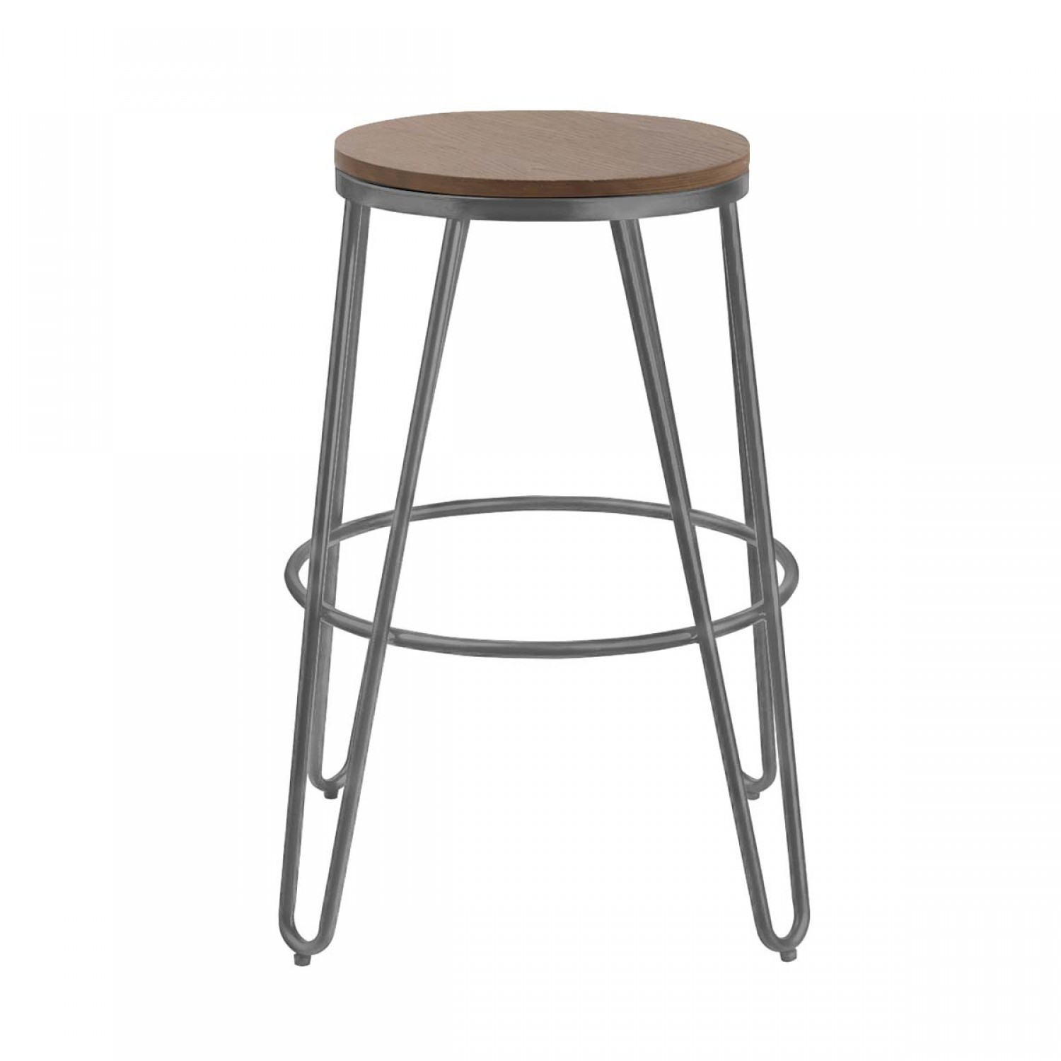 tabouret de bar loft bois et m tal lot de 2 koya design. Black Bedroom Furniture Sets. Home Design Ideas
