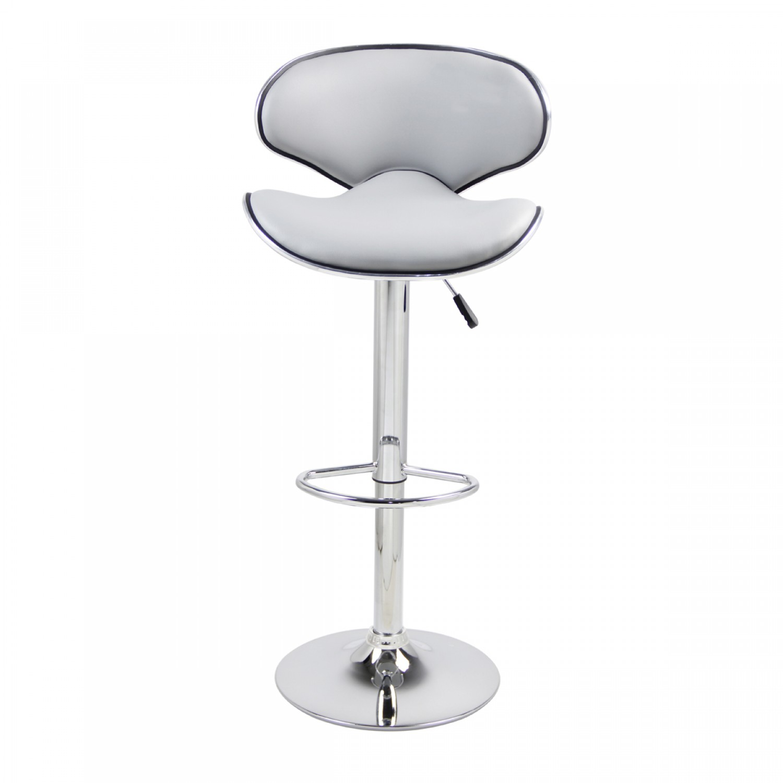 tabouret de bar pop gris lot de 2 koya design. Black Bedroom Furniture Sets. Home Design Ideas