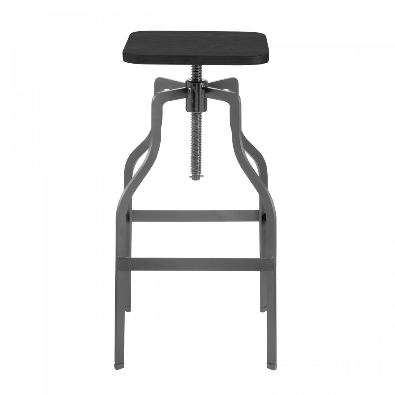 Tabouret De Bar Carre : Tabouret de bar vintage carré bois et métal koya design