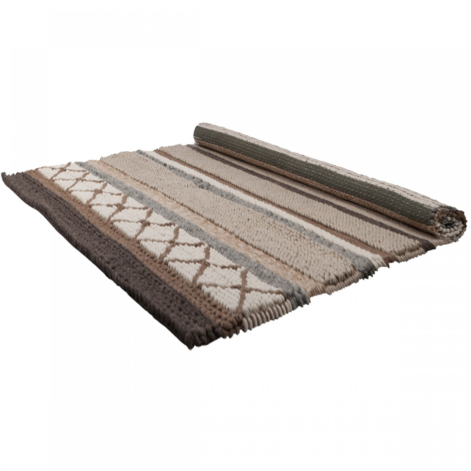 tapis andrea marron et beige 200x300 cm koya design. Black Bedroom Furniture Sets. Home Design Ideas