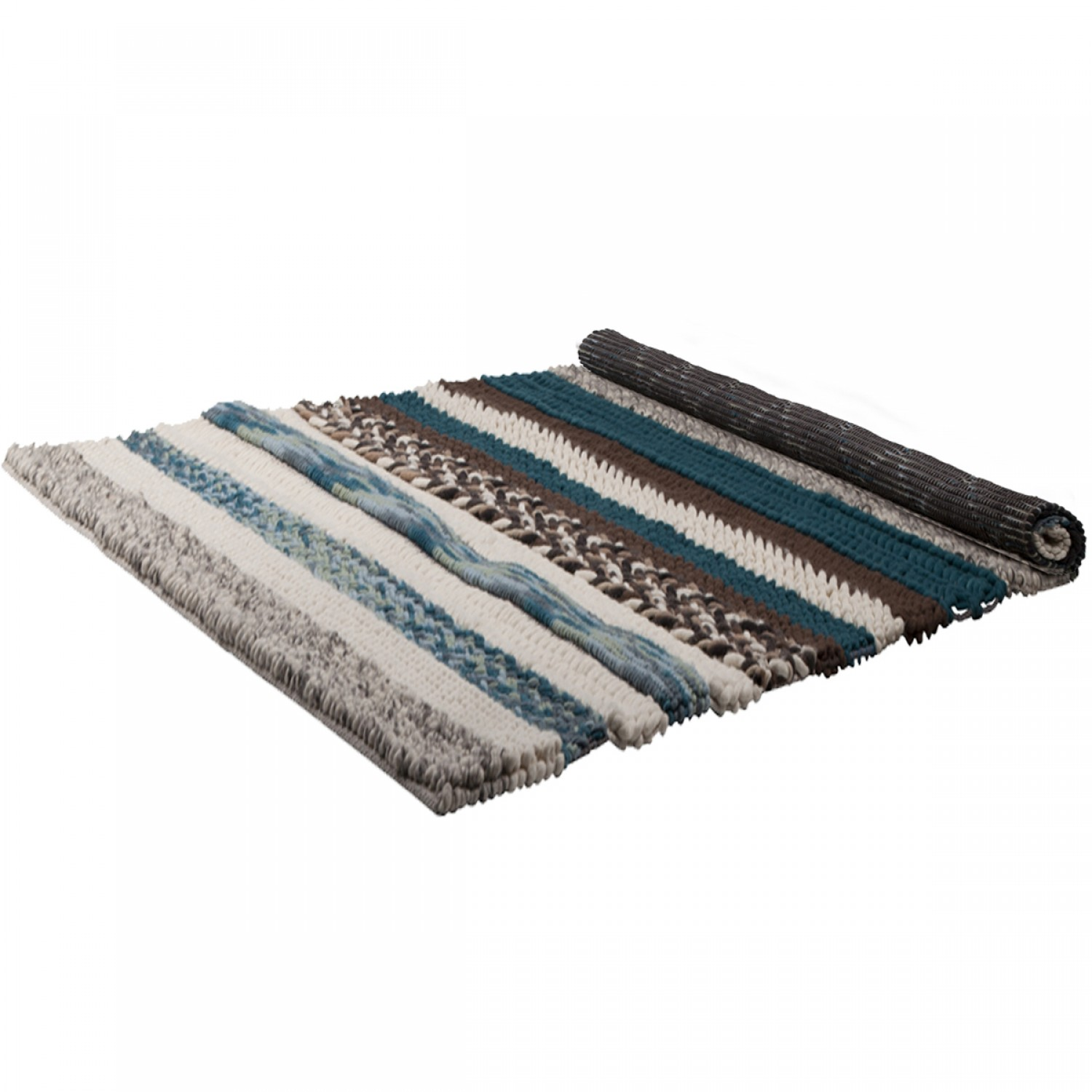 tapis andrea marron et bleu 200x300 cm koya design. Black Bedroom Furniture Sets. Home Design Ideas